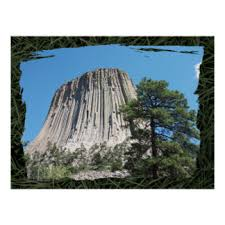 Devils Tower Wyoming Poster