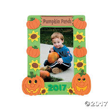 Pumpkin Patch Daycare Fees by Pumpkin Patch Picture Frame Magnet Craft Kit Oriental Trading
