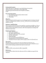 Sample Resume Format In Word Document