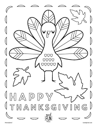 Kids Thanksgiving Themed Free Printable Coloring Page