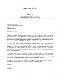 Law Enforcement Cover Letter Examples Sample For Throughout