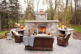 Patio Ideas Built Your Own Outdoor Fireplace With Stone