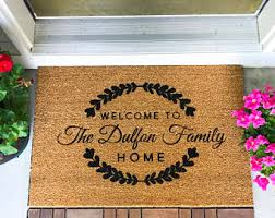 LARGE Custom Doormat Closing Gift Housewarming Wedding