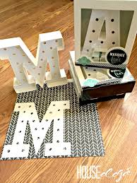 DIY Marquee Letters I Cheated