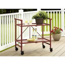 100 Walmart Carts Folding Chairs Cosco Smartfold Ruby Red Serving Cart87501RRD1E The Home Depot