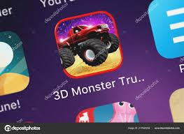 100 3d Monster Truck Games London United Kingdom September 2018 Close Shot