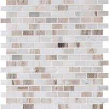 MSI Palisandro Mini Brick 12 in x 12 in x 10 mm Polished Marble