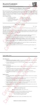Construction Management Resume Best Of Project Manager Examples Resumes