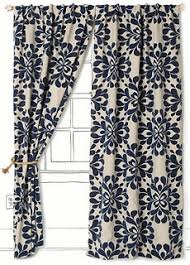 Navy Geometric Pattern Curtains by Best 25 Navy Blue Curtains Ideas On Pinterest Curtains With