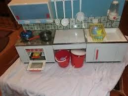 alte kinderküche puppen spielküche küche mit zubehör 60 70er