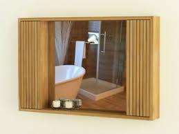 details zu spiegelschrank turin 01 teakholz 140 cm wandspiegel holzrahmen badezimmer rbk