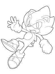 Super Sonic Coloring Pages For Boys 18