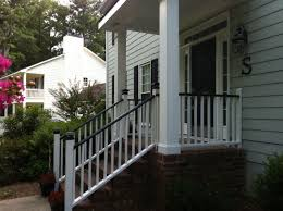 Black Porch Rails White House Curb Appeal Pinterest Porch