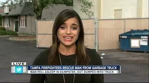 100 Garbage Truck Video Youtube Tampa Firefighters Rescue Man From Garbage Truck YouTube