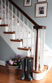 23+ Pretty Painted Stairs Ideas To Inspire Your Home | Carpet ... Ideas Attractive Deck Stairs Plus Iron Handrails For How To Build Kerala Home Design And Floor Planslike The Stained Glass Look On Living Room Stair Wall Design Hallway Pictures Staircase With Home Glossy Screen Glass Feat Dark Different Types Of Architecture Small Making Safe Wooden Stairs Steel Railing Interior Ideas Custom For Small Spaces By Smithworksdesign Etsy 10 Best Entryways Images Pinterest At Best Solution Teak