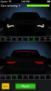 Motor Recall iPhone app has you guessing car models at night