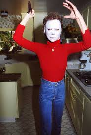 Halloween H20 Cast Member From Psycho by Jamie Lee Curtis Wearing The U0027the Shape U0027 Mask From Halloween 1979