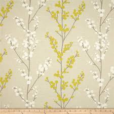 Curtain Fabric John Lewis by Hand Crafted Richloom Evelynne In Lemongrass Grey Gray Yellow
