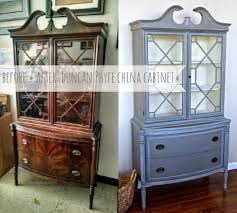 before after duncan phyfe china cabinet see how chalk paint
