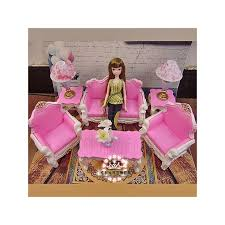 Barbie Fashion Living Room Set by Room Sofa Table Lamp Furniture Play Set 1 6 For Barbie Monster