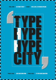 Type City Poster Typographic DesignTypography