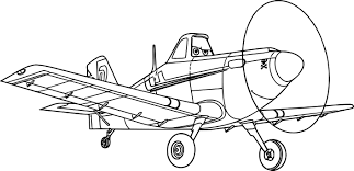 Cartoon Plane Coloring Pages