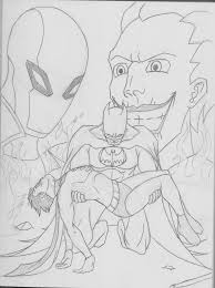 Red Hood Batman Coloring Pages Sketch Page