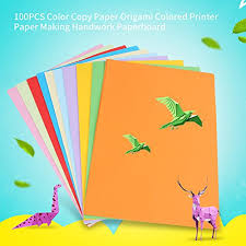 Color Copy Paper 100Pcs A4 Origami Colored Printer Making Handwork Paperboard
