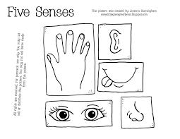 Five Senses Coloring Pages