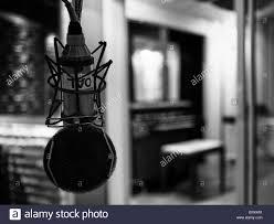 A Microphone In Music Studio