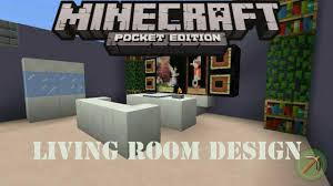 how to make a living room design minecraft pocket edition youtube