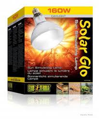 exo terra 125 watt solar glo bulb for sale