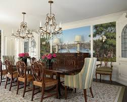 Mid Sized Elegant Enclosed Dining Room Photo In Minneapolis With White Walls And Dark Wood