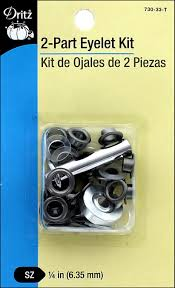 Dritz Curtain Grommet Kit by Dritz 2 Part Eyelet Kit 15 Pc Gunmetal With Tool Createforless