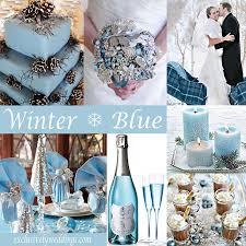 Blue And Silver Winter Wedding Ideas Simple Destination