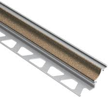 Schluter Tile Edging Colors by Schluter Jolly Bahama Color Coated Aluminum 5 16 In X 8 Ft 2 1 2