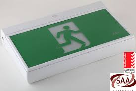 led exit signs wattage exit sign wemergency lights3wgrn diecast