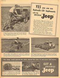 100 Ad Lift Truck LARGE 1947 UNIVERSAL JEEP TRUCK WITH HYDRAULIC LIFT AD ADVERTISEMENT