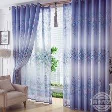 Country Style Living Room Curtains by Elegant Country Style Print Flower Purple Living Room Curtain