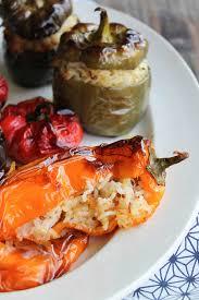 manger équilibré sans cuisiner poivrons farcis au riz vegan sans gluten aime mange mon