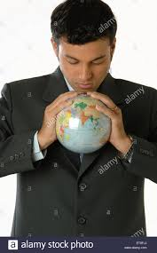 bureau vall guing office going looking at earth holding in both mr 748l