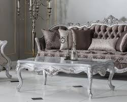 casa padrino luxus barock couchtisch silber 130 x 85 x h 47 cm rechteckiger massivholz wohnzimmertisch barock möbel edel prunkvoll