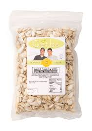 Shelled Pumpkin Seeds Protein by Lightly Sea Salted Dry Roasted In Shell Pumpkin Seeds Mygerbs Com