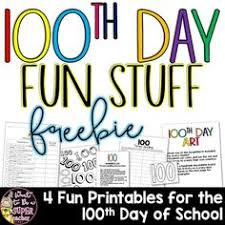 Free Printables For The 100th Day Of School Including A Art Project