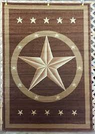 8X11 6X8 2X8 Or 3X4 Brown Texas Star Country Western Rustic Area Rugs