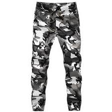 men autumn army fashion jogger pants patchwork harem camouflage