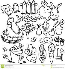 Adult Coloring Book Farm Animals Stock Photos Image Cartoon Photography Animal Pages