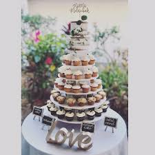 Cupcake Delights Inc Naked Wedding Cake And Cupcakes