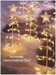 Outdoor Christmas Spiral Tree Decorations Prettier Clear Lighted Garden Stakes Of 58