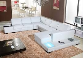 Modern Sofa set living room furniture with corner leather sofa U